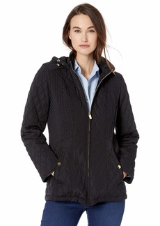 Jones New York Women's Hooded Midweight Quilted Jacket  S