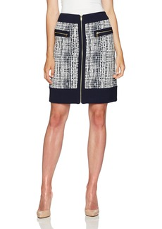 Jones New York Women's Jacquard Combo Skirt