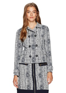 Jones New York Women's Jacquard DBL Breasted Jacket