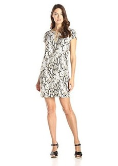 Jones New York Women's Lace-Up Tunic Dress