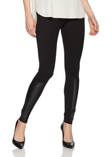Jones New York Women's Legging W/Faux Leather Insert  XS