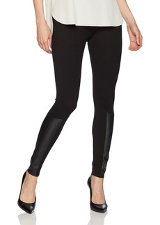 Jones New York Women's Legging W/Faux Leather Insert  L