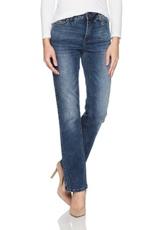 Jones New York Women's Lexington Straight Denim Jean Madison WASH