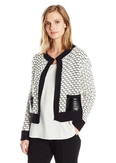 Jones New York Women's L/SLV Extend Crew Pkt Cardigan  XL