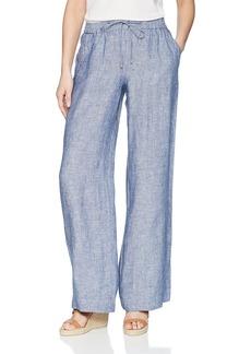 Jones New York Women's Linen Easy Pant Indigo Cross dye