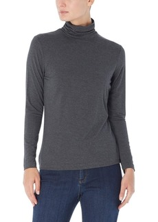 Jones New York Long Shirred Neck Pullover Top