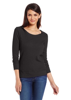 Jones New York Women's Long Sleeve Low Cut Hoodie with Seams