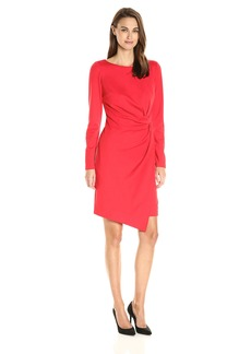 Jones New York Women's Long Sleeve Tucked Ponte Dress