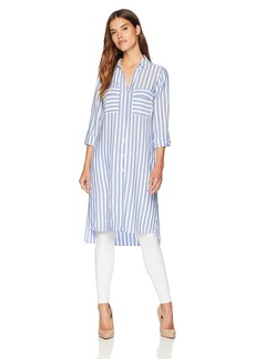 Jones New York Women's Long Tunic with Roll Cuff  XS