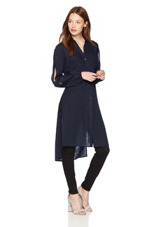 Jones New York Women's Long Tunic with Split Sleeves  L