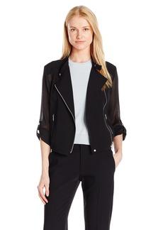 Jones New York Women's Mesh Moto Jacket  M