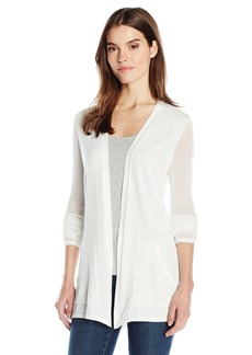 Jones New York Women's Mesh Sleeve Sweater Cardi  S