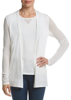 Jones New York Women's Mesh Sleeve Sweater Cardi  XL