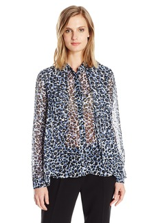 Jones New York Women's Hi Lo Buttondown Blouse  M