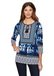 Jones New York Women's Moroccan Ikat Prt 3/4 Slv Tunic  S