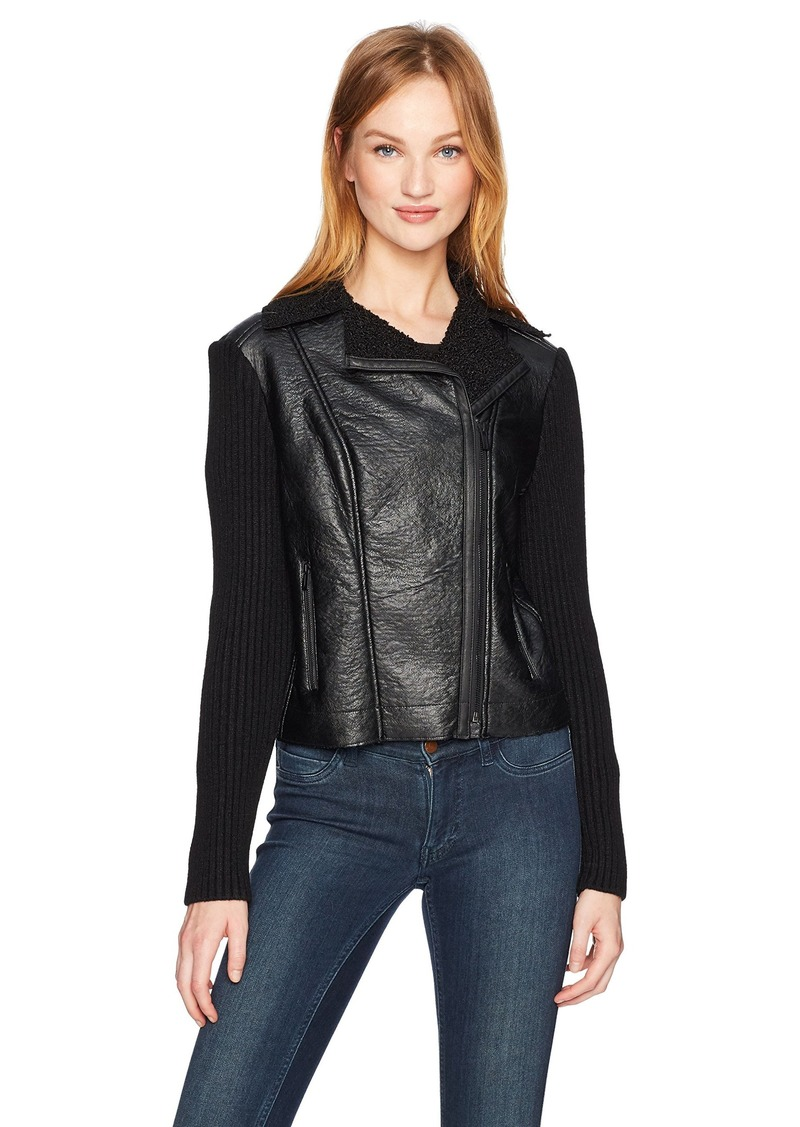 Jones New York Women's Moto Jacket W/Sweater SLV  L