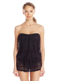 Jones New York Women's Neo Crochet Blouson Swim Dress