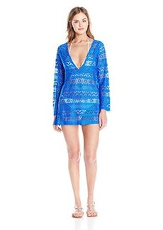 Jones New York Women's Neo Crochet V-Neck Cover Up