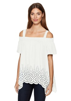 Jones New York Women's Novelty Off Shoulder Top  M