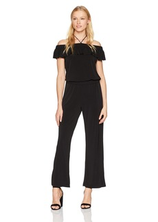 Jones New York Women's Off The Shldr Jumpsuit W/Shirred Wst  XL