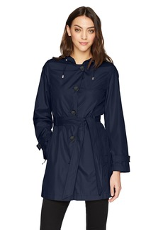 Jones New York Women's Packable Trench Coat  L