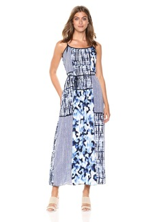 Jones New York Women's Patchwork Maxi Dress  L