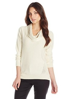Jones New York Women's Petite Cowl Neck Pullover  Petite/X-Large