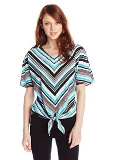Jones New York Women's Petite Crepe Top
