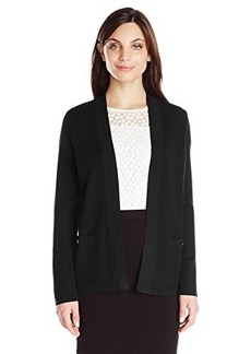 Jones New York Women's Petite Long Sleeve Open Front Cardigan