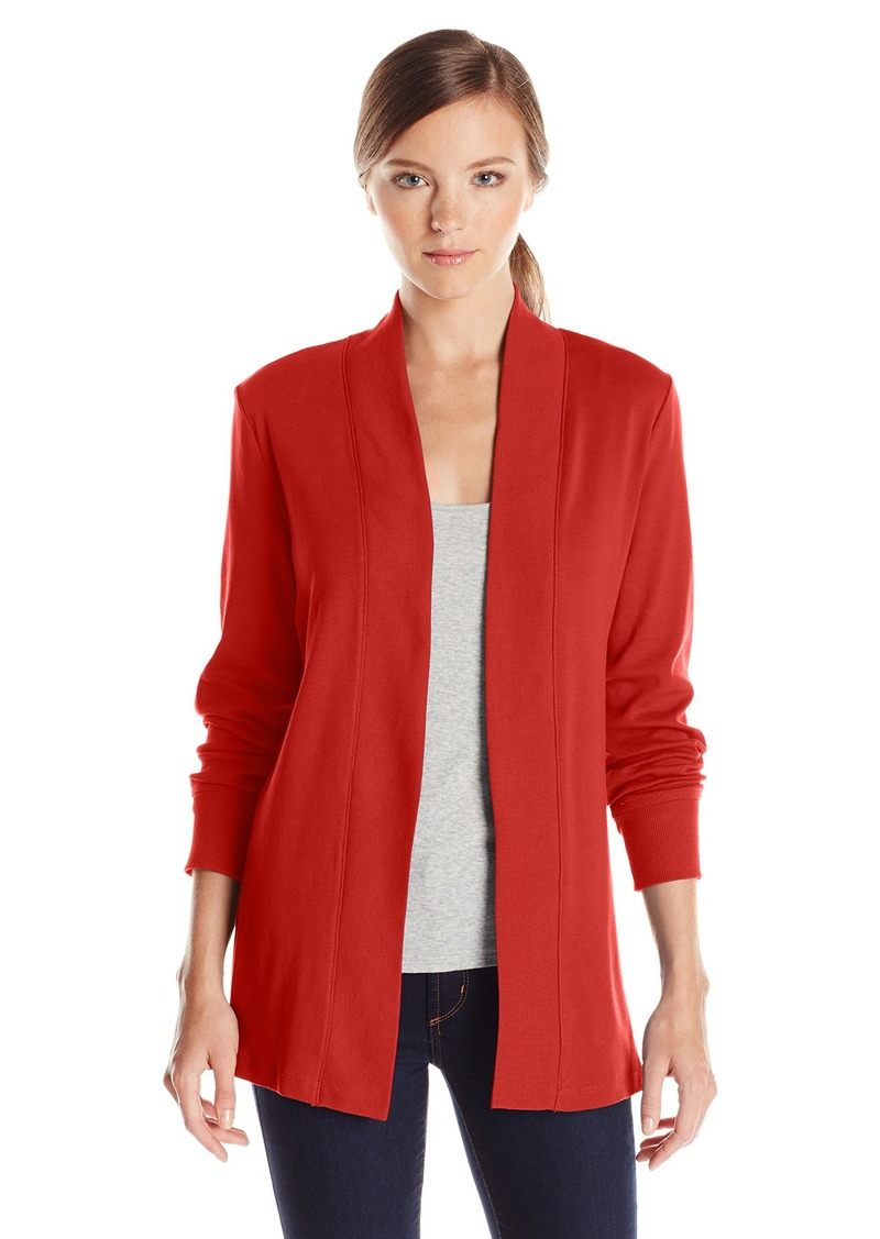 Jones New York Women's Petite Open Front Cardigan