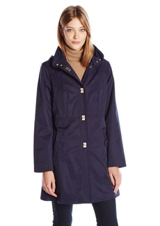 Jones New York Women's Pick Stitch a-Line Turn Key Transitional Coat