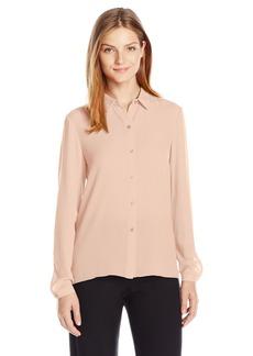 Jones New York Women's Pleat Back Long Sleeve Shirt