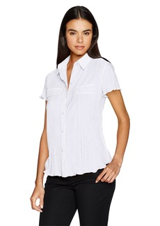 Jones New York Women's Pleated Shirt  M