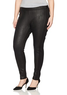 Jones New York Women's Plus Size Foil Ponte Legging With Rib Sides
