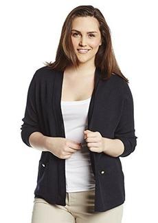 Jones New York Women's Plus-Size Long Sleeve Open Front Cardigan