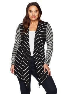 Jones New York Women's Plus Size L/SLV Open Frt Cardi