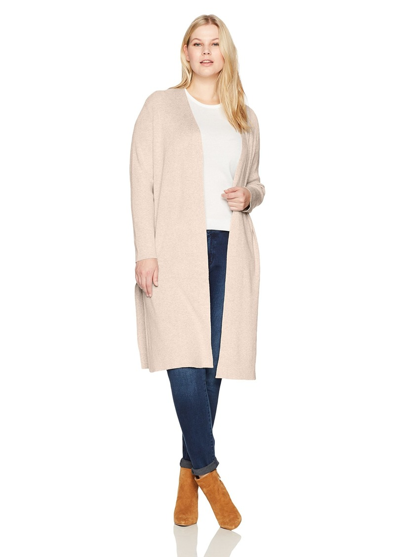 Jones New York Women's Plus Size Open Front Duster Cardigan