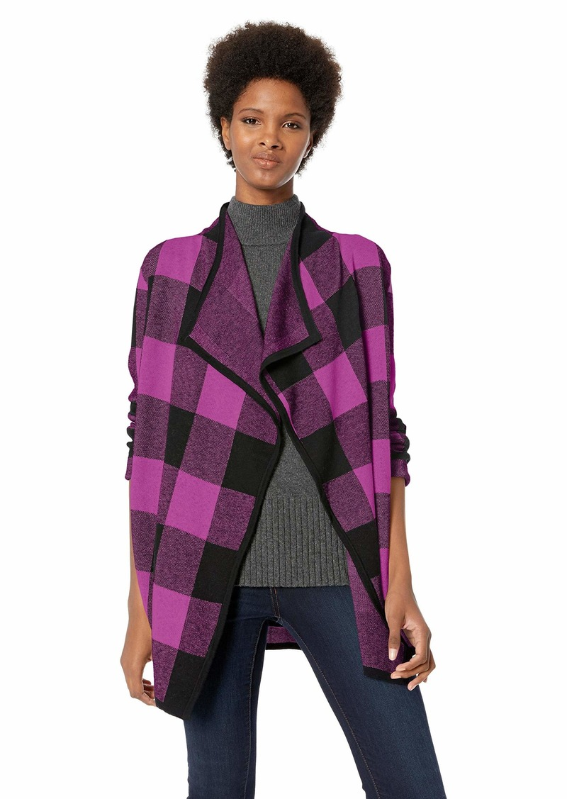 Jones New York Women's Plus Size Plaid Cardigan