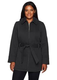 Jones New York Women's Plus Size Pluz Zip Front Sweatshirt Fleeece Jacket