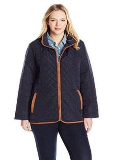 Jones New York Women's Plus-Size Quilted Barn Jacket  1X