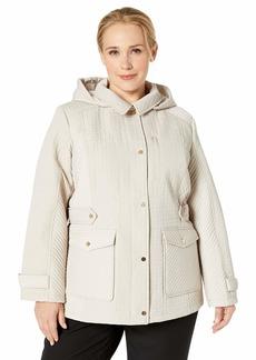 50e1c12c0f2 Jones New York Jones New York Plus Size Walker Coat with Faux-Fur ...