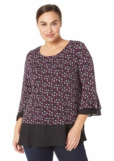 Jones New York Women's Plus Size Romantic Blouse