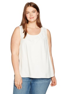 Jones New York Women's Plus Size Shirttail Slit Combo Tank
