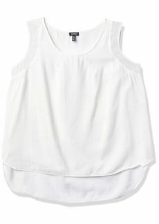 Jones New York Women's Plus Size Shirttail Slit Combo Tank