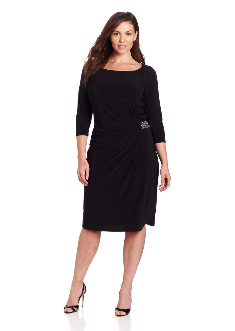 Jones New York Women's Plus-Size Side Trim Detail Dress