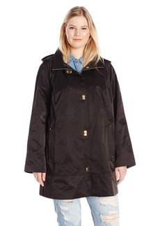 Jones New York Women's Plus Size Turn-Key Rain Topper