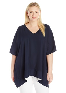 Jones New York Women's Plus Size V NK Square Top