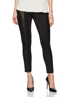 Jones New York Women's Ponte Legging With Distrssed Foil paneling  S