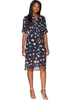 Jones New York Women's Printed Floral Shirtdress