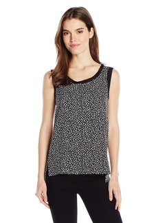 Jones New York Women's Printed Hi Lo Cropped Tank  M